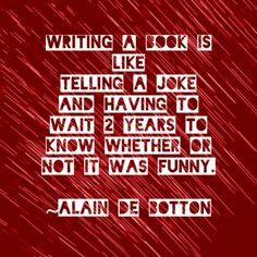 writing a book is like telling a joke