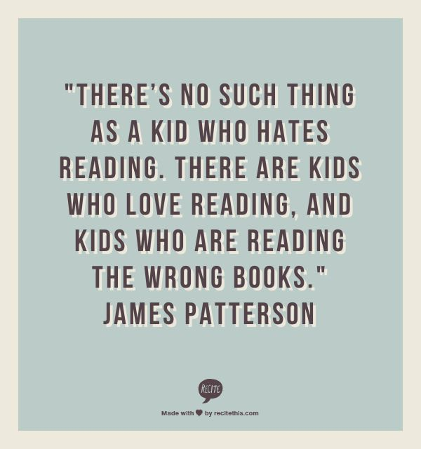 james patterson on reading