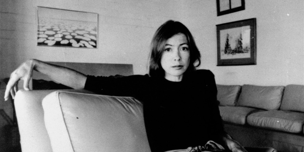 "Joan Didion, author of ""Play It as It Lays"", and ""Slouching Towards Bethlehem"", is pictured here on May 1, 1977.(AP Photo)"